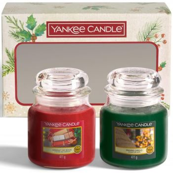 Yankee Candle Gift Set 2 Medium Jar Christmas Scented Candles
